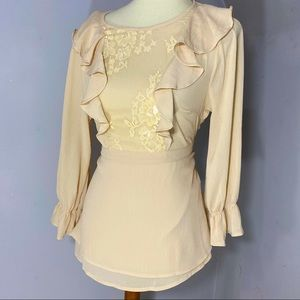 Andree by Unit Romantic Ruffles & Lace Blouse Top